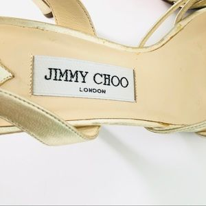 Jimmy Choo Shoes - Jimmy Choo gold strappy heels